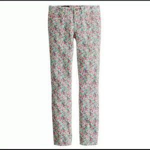 J CREW Toothpick Floral Ankle Jeans